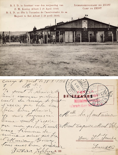 Postcard received by Léonie La Fontaine in 1916