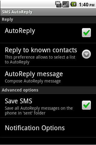 SMS AutoReply