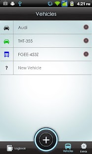 Vehicle Logbook Screenshot