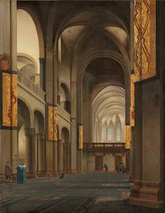RIJKS: Pieter Jansz. Saenredam: The Nave and Choir of the Mariakerk in Utrecht 1641