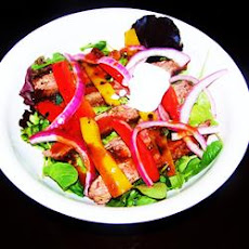 Grilled Fajita Steak Salad With Pickled Pink Onions