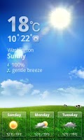 Screenshot of MXHome Theme Weather