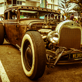 Weirdo by Petra Bensted - Transportation Automobiles ( car, old, gold coast, vintage, cooly rocks )
