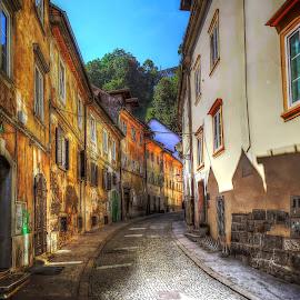 Ljubljana by Christian Heitz - City,  Street & Park  Street Scenes