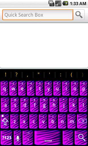 Purple Zebra Keyboard