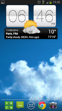 Sense V2 Flip Clock & Weather APK screenshot thumbnail 1