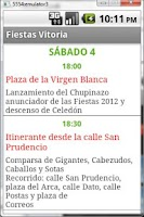 Screenshot of Fiestas Vitoria-Gasteiz 2012