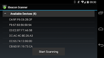Screenshot of iBeacon Scanner Service