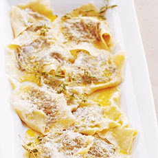 Ravioli Stuffed with Kale, Prosciutto, and Marjoram