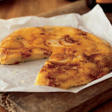 Potato Cake with Cheese and Bacon