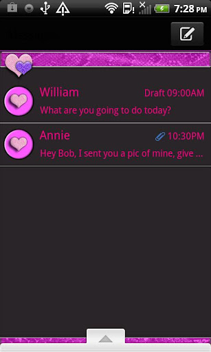 GO SMS THEME PinkSnake4U