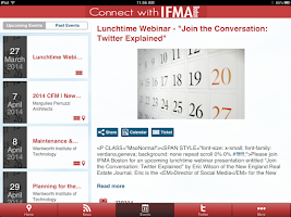 Screenshot of IFMA Boston