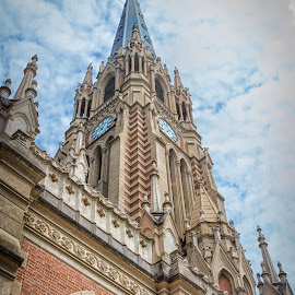 Powerful Steeple by Paul Runze - Buildings & Architecture Places of Worship ( 2014 so america, family, church x steeple x uruguay )