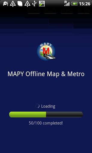 ムンバイオフラインマップ
