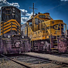Ft Smith Engines by Ron Meyers - Transportation Trains
