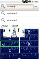 Screenshot of SlydeBoard: Fast Full Keyboard