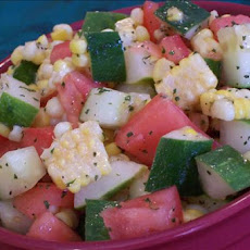 Corn, Cucumber and Tomato Toss