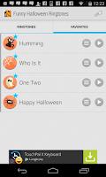 Screenshot of Funny Halloween Ringtones