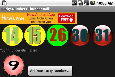 Lucky Numbers Thunder Ball