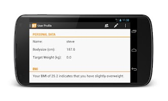 Screenshot of BT pro - weight & bmi