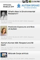 Screenshot of Autism Speaks