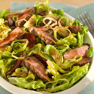 Balsamic Steak Salad With Roasted Brussels Sprouts & Beets