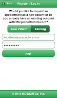 Screenshot of Marijuana Doctors