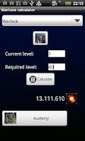 Screenshot of Wartune Daru Calculator