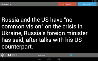 Screenshot of Teleprompter Pro LITE