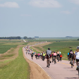 Iowa RAG Ride by Ginger Wlasuk - Sports & Fitness Cycling ( iowa, country roads, bike, rag, cycling, bicycle )