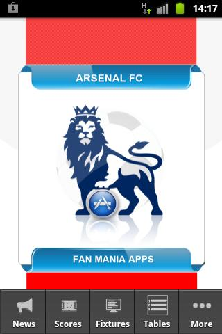 Arsenal FC App Mania