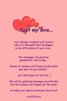Screenshot of Text My Love