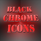 Black Chrome Icons APK for iPhone