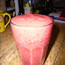 Raspberry, Strawberry & Coconut Smoothie