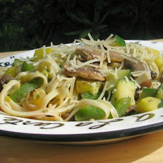 Summer Vegetables With Linguine