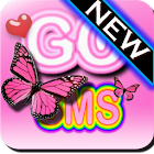 Pink Butterfly Theme Go SMS XO icon