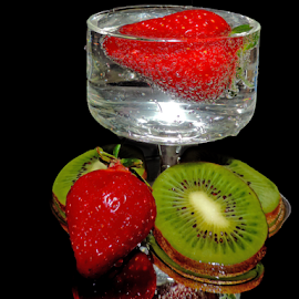 kiwi with strawberry by LADOCKi Elvira - Food & Drink Fruits & Vegetables ( kiwi, strawberry )