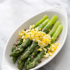 Boiled Asparagus with Sieved Eggs and Caper Vinaigrette