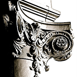 Cornice Detail I by Elizabeth Gray - Buildings & Architecture Architectural Detail ( #classical, #detail, #art, #architecture, #vintage, #photpgraphy, #cornice, #antique, #blackandwhite )