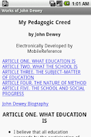 Screenshot of Works of John Dewey
