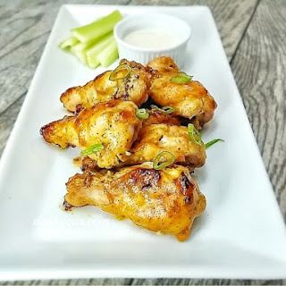 Spicy Honey Mustard Chicken Wings