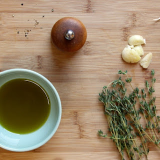 Thyme and Garlic Olive Oil