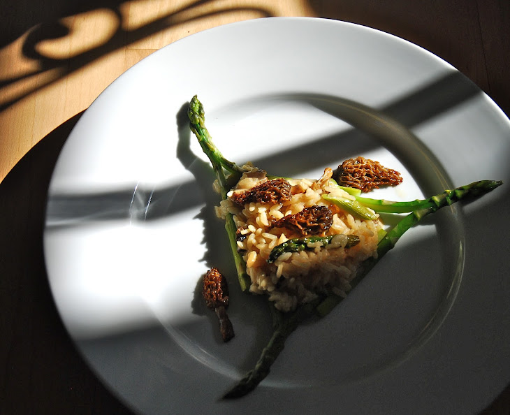 Risotto With Asparagus And Morel Ragoût Recipes — Dishmaps