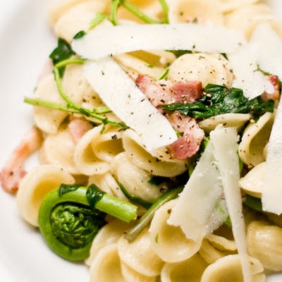 Orecchiette With Ramps And Fiddleheads