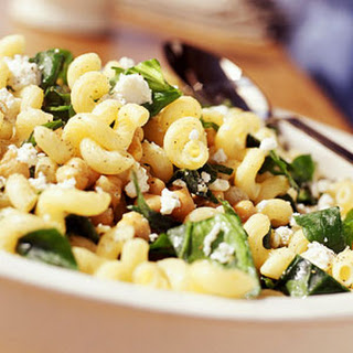 Spinach Salad Recipe With Marinated Garbanzo Beans And Feta Cheese ...