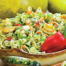 Pasta Salad with Herb Pesto and Peas