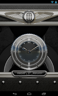 Clock Widget Black Elephant - screenshot