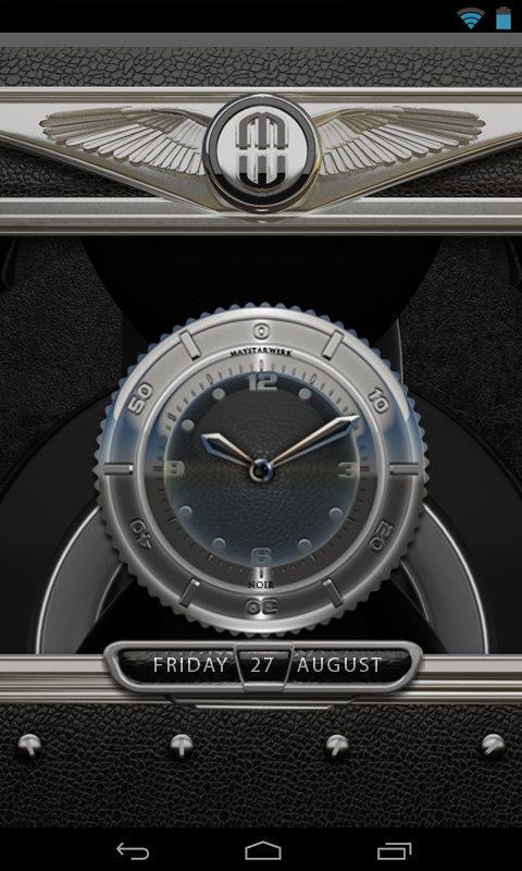 Clock Widget Black Elephant Screenshot 2