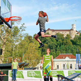 dunking by Boštjan Henigman - Sports & Fitness Basketball ( basketball )