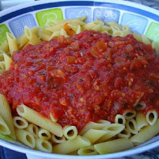 Pasta with Spicy Sun-Dried-Tomato Cream Sauce